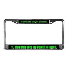 11th Commandment License Plate Frame