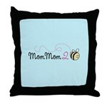 MomMom to Bee Throw Pillow