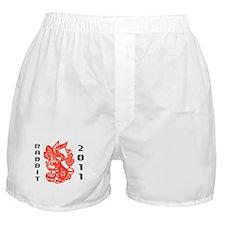 Chinese Paper Cut Rabbit 2011 Boxer Shorts