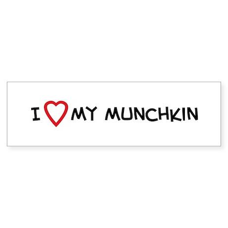 I Love My Munchkin Bumper Sticker