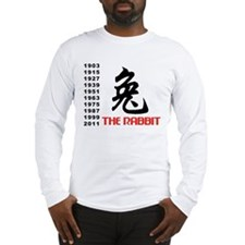 Chinese Symbol Year of The Rabbit Long Sleeve T-Sh