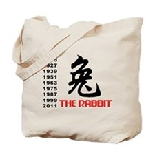 Chinese Symbol Year of The Rabbit Tote Bag
