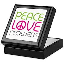 Peace Love Flowers Keepsake Box