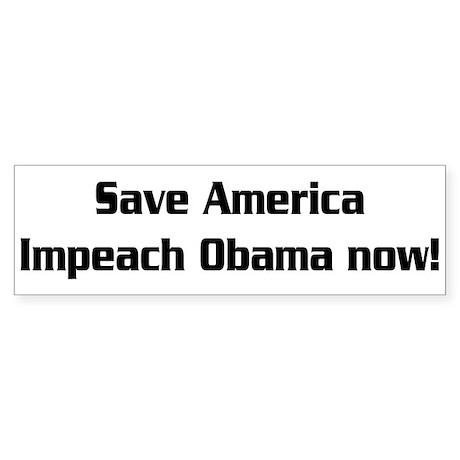 Impeach Obama Sticker (Bumper)