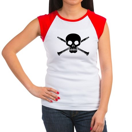Clarinet Skull Women's Cap Sleeve T-Shirt