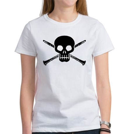 Clarinet Skull Women's T-Shirt