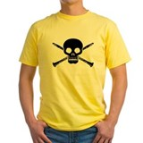 Clarinet Mens Classic Yellow T-Shirts