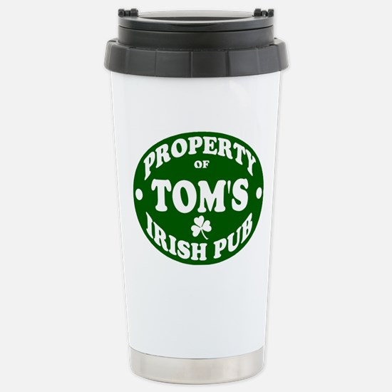 Tom's Irish Pub Stainless Steel Travel Mug