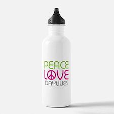 Peace Love Daylilies Water Bottle