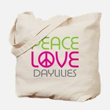 Peace Love Daylilies Tote Bag