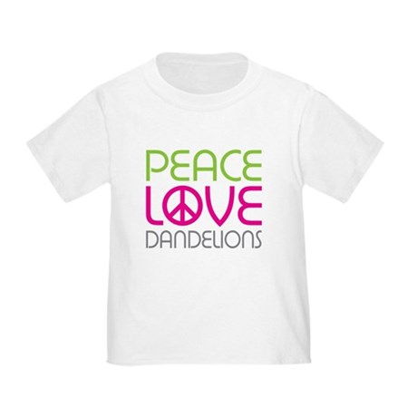 Peace Love Dandelions Toddler T-Shirt