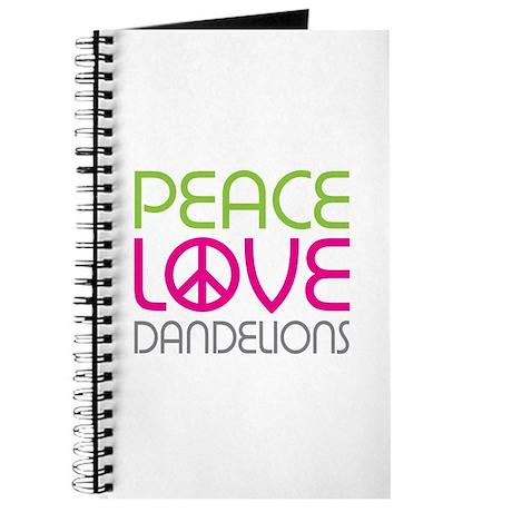 Peace Love Dandelions Journal