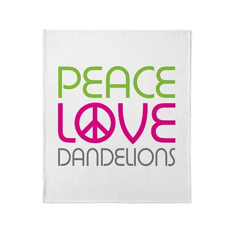 Peace Love Dandelions Throw Blanket