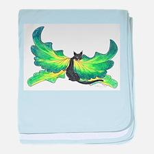 Green Fairy Cat baby blanket