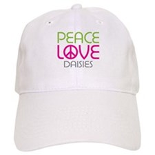 Peace Love Daisies Baseball Cap