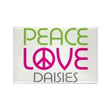 Peace Love Daisies Rectangle Magnet