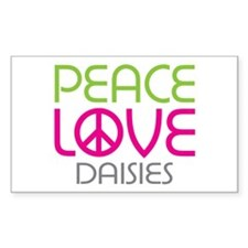 Peace Love Daisies Decal