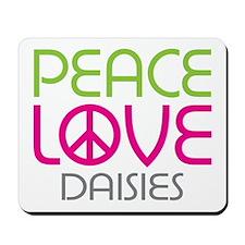 Peace Love Daisies Mousepad