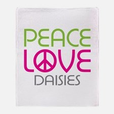 Peace Love Daisies Throw Blanket
