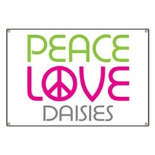 Peace Love Daisies Banner