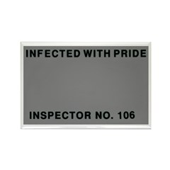 Inspected with Pride Rectangle Magnet