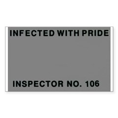 Inspected with Pride Rectangle Decal
