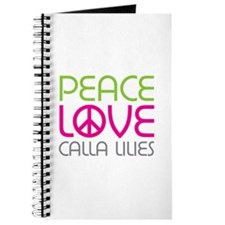 Peace Love Calla Lilies Journal