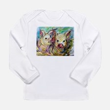 Pig, Couple, Cute, Long Sleeve Infant T-Shirt