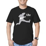 iUke Grey Men's Fitted T-Shirt (dark)
