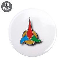 """Klingon Symbol 3.5"""" Button (10 pack)"""
