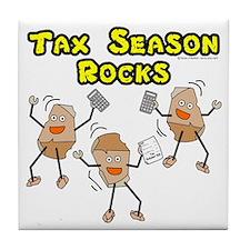 Tax Season Rocks Tile Coaster
