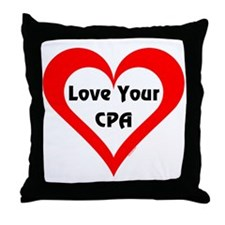 Love Your CPA Throw Pillow