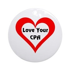Love Your CPA Ornament (Round)