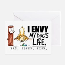 SCWT Wheaten Terrier Fish Greeting Card