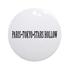 Paris - Tokyo - Stars Hollow Ornament (Round)