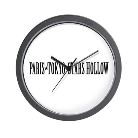 Paris - Tokyo - Stars Hollow Wall Clock