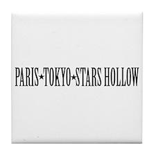 Paris - Tokyo - Stars Hollow Tile Coaster