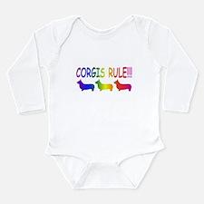 Corgi Long Sleeve Infant Bodysuit