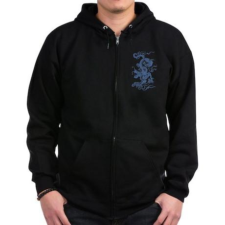 Blue Dragon Zip Hoodie (dark)
