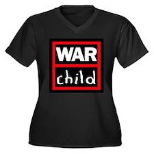 Warchild UK Charity Women's Plus Size V-Neck Dark