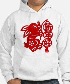 Chinese New Year Rabbit Paper Cut Jumper Hoody