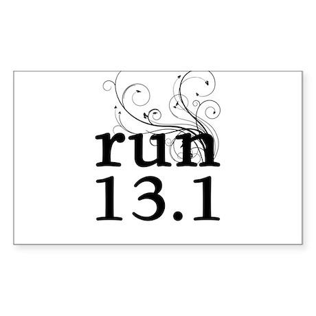 run 13.1 Sticker (Rectangle)