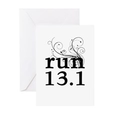 run 13.1 Greeting Card