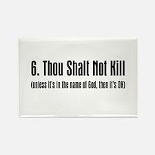 6th Commandment Rectangle Magnet