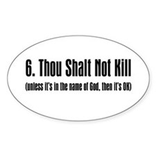 6th Commandment Oval Decal