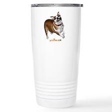 Crazy Bulldog Travel Mug