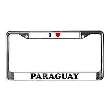 I Love Paraguay License Plate Frame