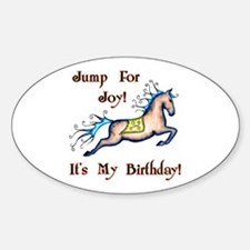 Joy Birthday Horse Oval Decal