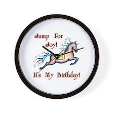 Joy Birthday Horse Wall Clock