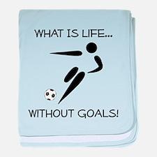 Soccer...Goals! baby blanket